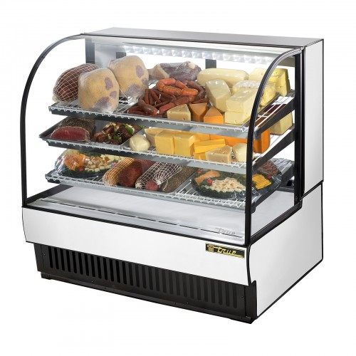 Used Kitchen Equipment Miami: TRUE TCGR-50 Commercial Refrigerated Curved Glass Bakery